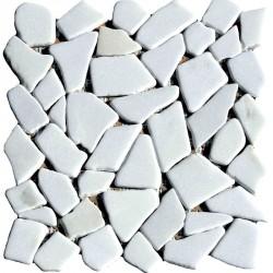 Naturstein Bruchmosaik 8 mm Weiss