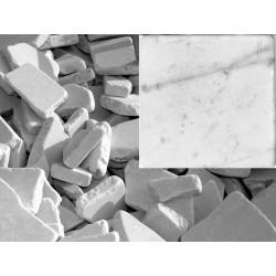 Antik Marmor Bruchmosaik 5-8 cm Weiss  lose im Sack 1cm getrommelt