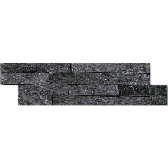 Naturstein Mauerverblender Mini Quarzit Black Quarz