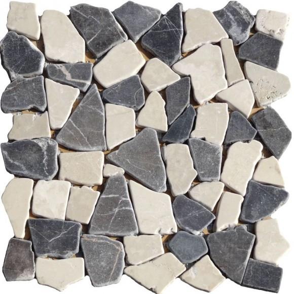 Naturstein Bruchmosaik Grau Braun Beige Mix (Grey Brown Cream)