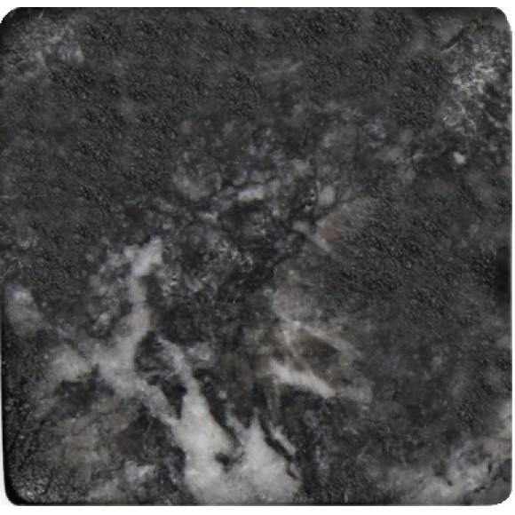 Antik Marmor 1 cm Schwarz  10x10x1 cm getrommelt