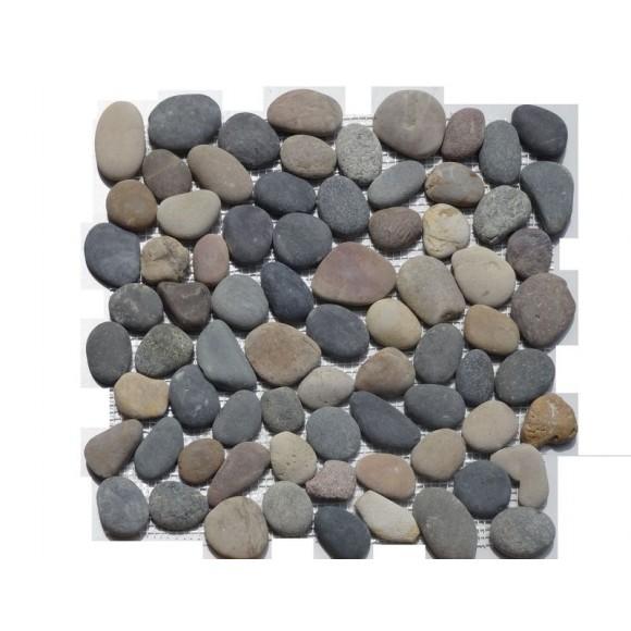 flusskiesel mosaik rund bunt auf netz geklebt | mein, Gartenarbeit ideen