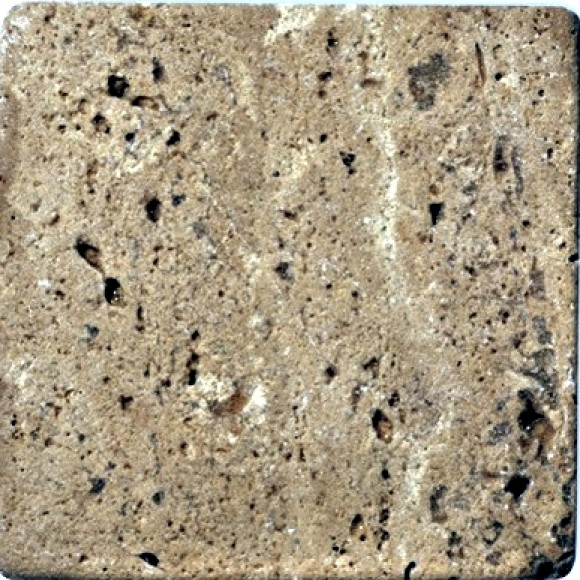 Antik Marmor 1 cm Braun  10x10x1 cm getrommelt