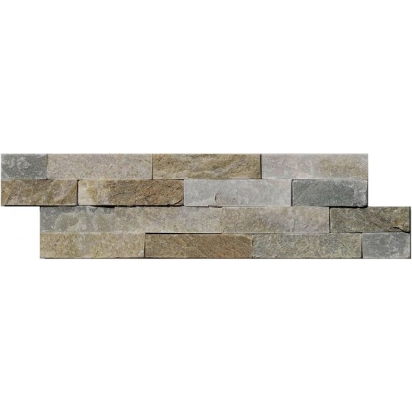Naturstein Mauerverblender Mini Quarzit Beige