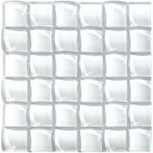 Glas Mosaik 10 mm 3D Effekt Weiß