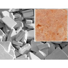 Antik Marmor Bruchmosaik 5-8 cm Rot  lose im Sack 1cm