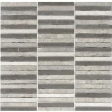 Naturstein Mosaik 8 mm Beton Grau  lines