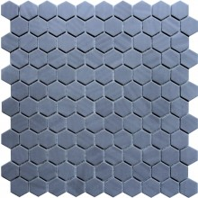 Keramik Mosaik 4 mm Uni Dark Grey Wabenstruktur