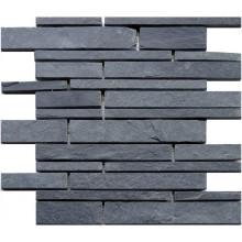 Naturstein Mosaik 8 mm Schiefer Schwarz  Wall