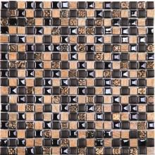 Glas Naturstein Keramik Mosaik 8 mm Mini Brown Mix