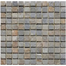 Naturstein Mosaik 8 mm Quarzit Multicolor 23