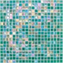 Glas Mosaik 4 mm Perlmutt Grün