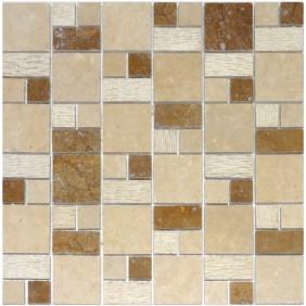 Naturstein Mosaik 8 mm Beige  Multiformat
