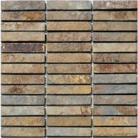 Naturstein Mosaik Schiefer Multicolor Line