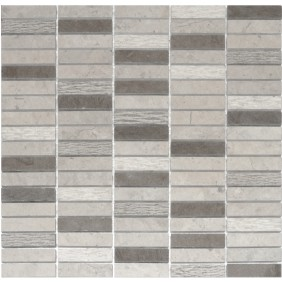 Naturstein Mosaik 8 mm Beton Grau  Stick 60