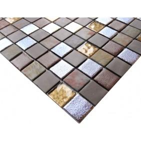 Materialmix Mosaik 4 mm  Brown Mix