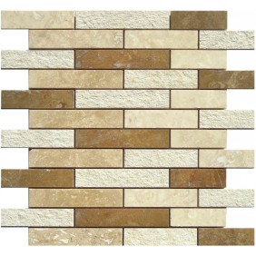 Naturstein Mosaik 8 mm Beige  Multimix