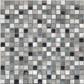 Aluminium Glas Mosaik 8 mm Braun Mix 15