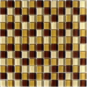 Glas Mosaik 8 mm Braun Mix