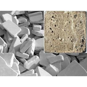 Antik Marmor Bruchmosaik 5-8 cm Braun  lose im Sack 1cm