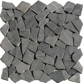 Naturstein Bruchmosaik Dunkel Grau (Anthrazit)