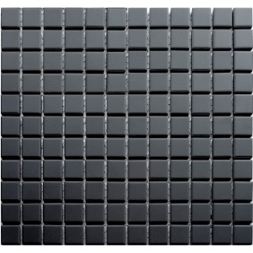 Feinsteinzeug Mosaik 5 mm Schwarz 23 Antislip
