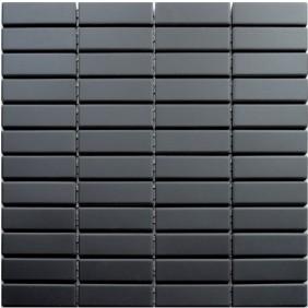 Feinsteinzeug Mosaik 5 mm Schwarz Brick Antislip