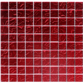 Glas Mosaik 4 mm 3D Effekt Red 30