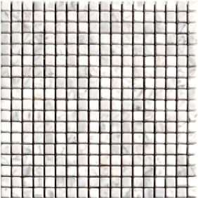 Naturstein Mosaik 8 mm Weiss (Bianco) getrommelt