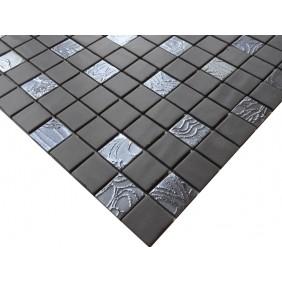 Keramik Mosaik 4 mm Mix V Basalt