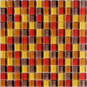 Glas Mosaik 8 mm Rot Mix