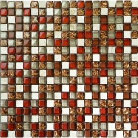 Mosaik schwarz/grau matt 2,3x2,3 cm auf Netz 30,5x30,5