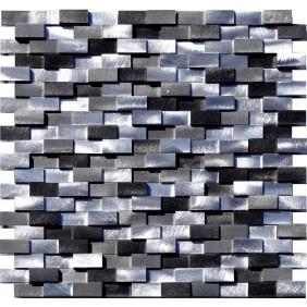 Aluminium Mosaik 8 mm 3D Schwarz Mix