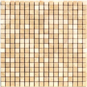 Naturstein Mosaik 8 mm Beige (Cream) Mix poliert