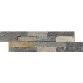 Naturstein Mauerverblender Mini Quarzit Grey