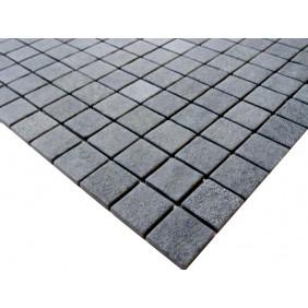 Naturstein Mosaik 4 mm Basalt Black Antislip