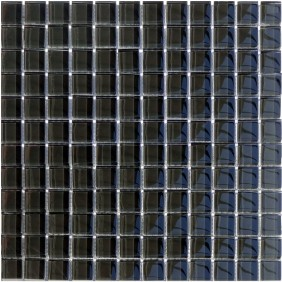 Glas Mosaik 8 mm Anthrazit Uni
