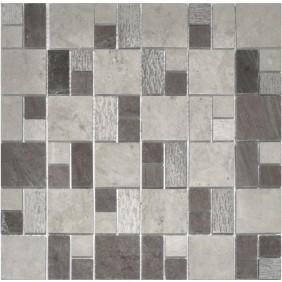 Naturstein Mosaik 8 mm Beton Grau  Multiformat