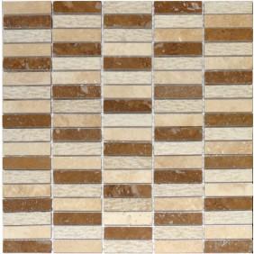 Naturstein Mosaik 8 mm Beige  Stick 60