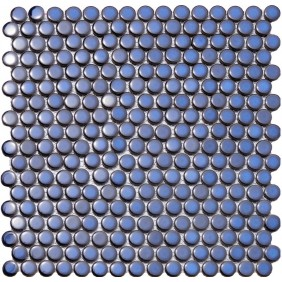 Keramik Knopf Mosaik 4 mm Blau