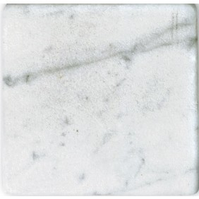 Antik Marmor 1 cm Weiss  10x10x1 cm getrommelt