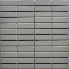 Feinsteinzeug Mosaik 5 mm Light Grey Brick Antislip