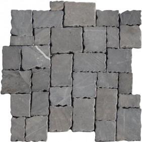 Naturstein Mosaik 8 mm Anthrazit Römischer Verband getrommelt