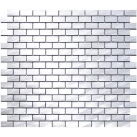 Aluminium Mosaik 4 mm Silber (Silver) Brick