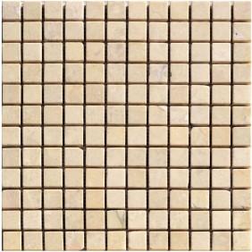 Naturstein Mosaik 8 mm Beige (Cream) getrommelt