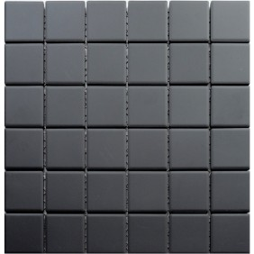 Feinsteinzeug Mosaik 5 mm Schwarz 48 Antislip