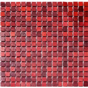 Glas Mosaik 6 mm Rot mix