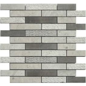 Naturstein Mosaik 8 mm Beton Grau  Multimix