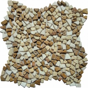 Naturstein Mosaik  8 mm Bruchmosaik Mini Desert