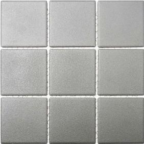 Keramik Mosaik Uni Grau 10x10cm Antislip Rutschfest R10B